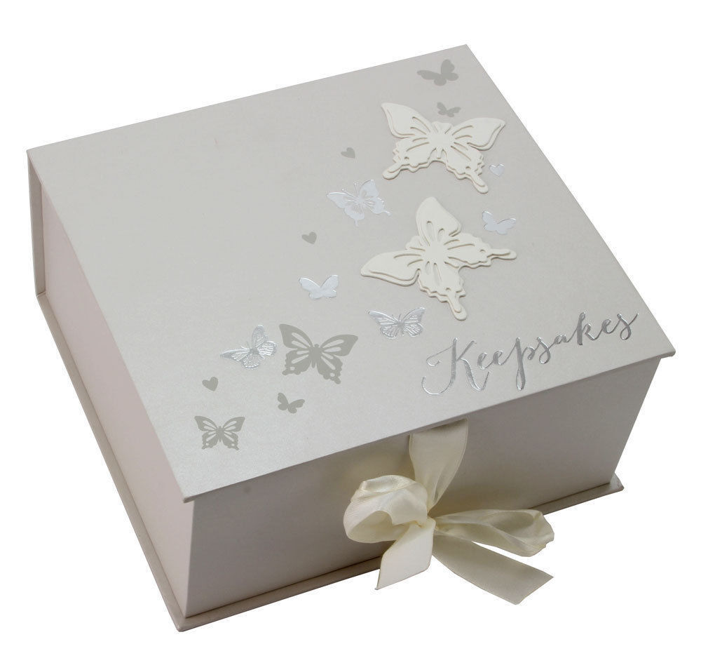 Wedding Gifts Boxes: Wings Of Love Butterfly Wedding Memory Keepsake Box