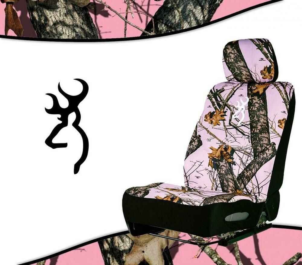 Browning Amp Mossy Oak Break Up Neoprene Pink Camo Seat Cover Low Back Seats Ebay