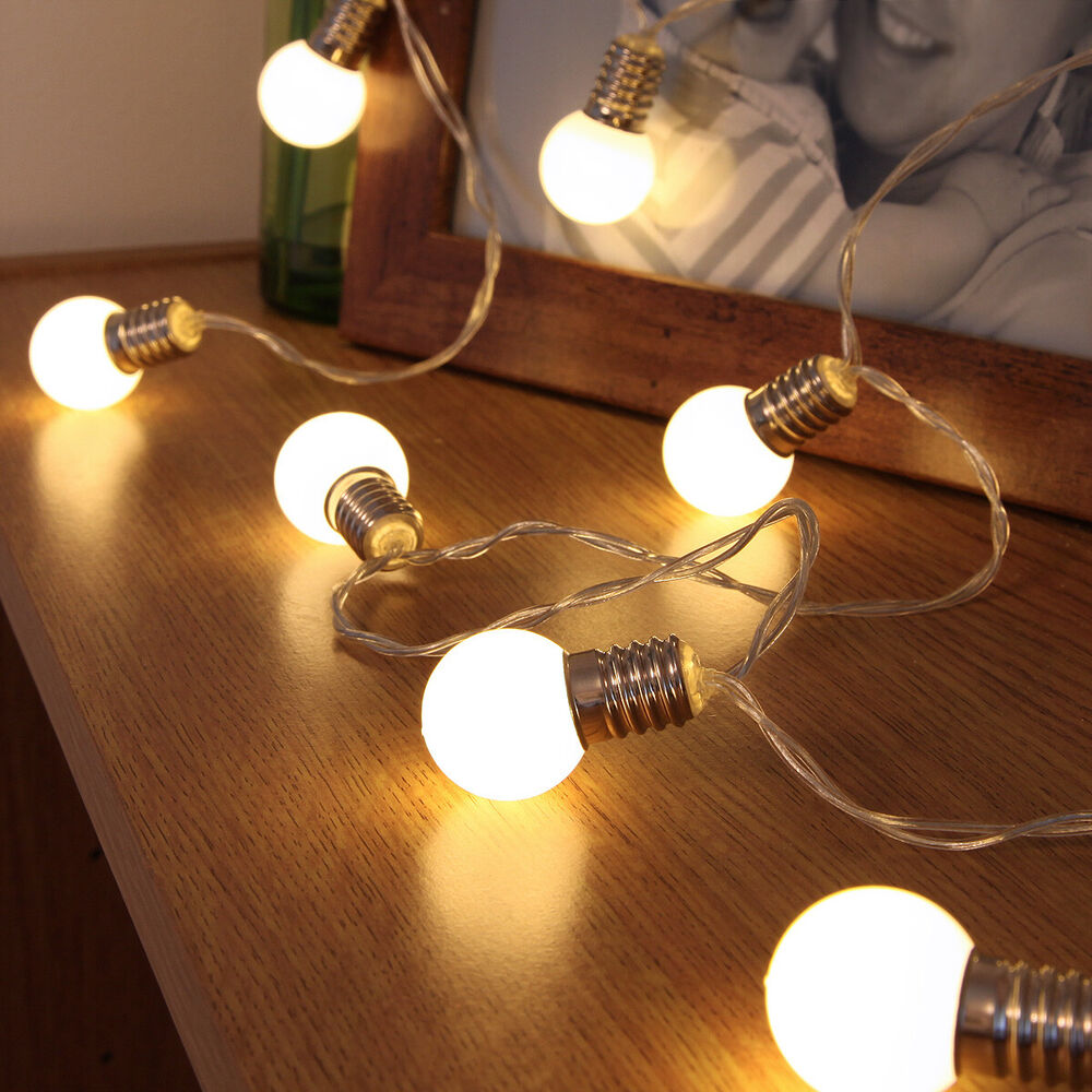Led String Lights Indoor Battery : 10 LED INDOOR BATTERY XMAS PARTY 1.5M FAIRY STRING WIRE MINI FESTOON BULB LIGHTS eBay