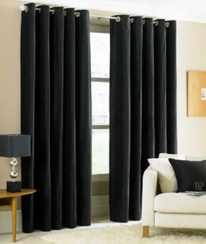 Two Heavy Thick Panels Foam Blackout Black Grommet Window