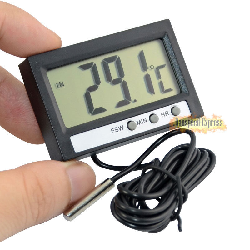 Digital Temperature Meter : Vehicle lcd display digital thermometer with probe