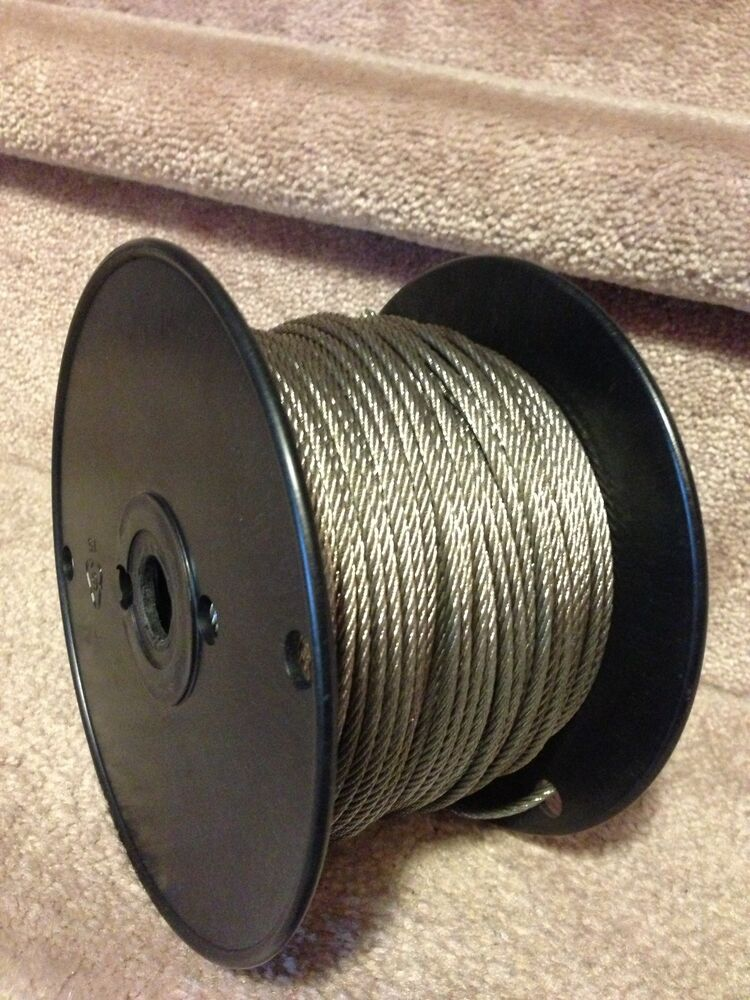 Quot stainless steel wire rope cable  ft ebay