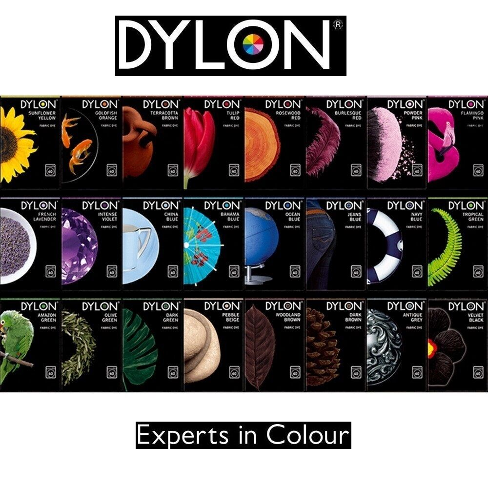 2 x Dylon MACHINE DYE Wash Fabric Cotton Material 24 Fresh ...