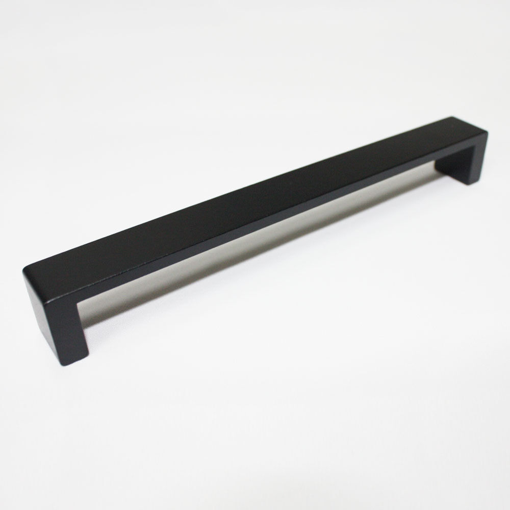 black solid 160mm metal kitchen cupboard handles cabinet