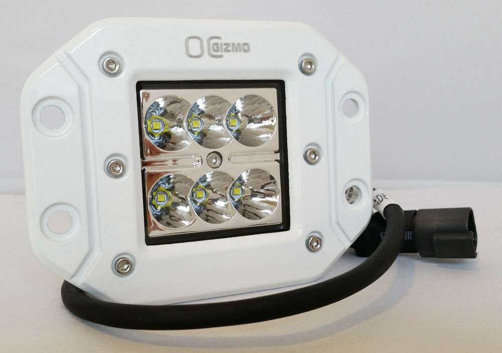 Two 4 Quot Cree Led Flush Mount Light Lamp 3x3 Cube Pod Ford
