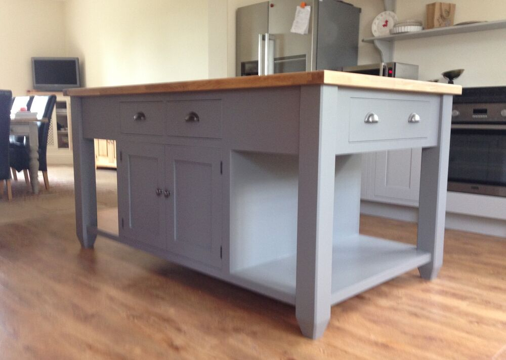 painted free standing kitchen island unit ebay free standing kitchen islands home interior design