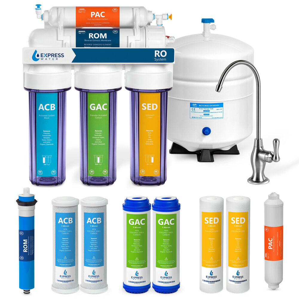 Undersink Water Filter System Reverse Osmosis Filtration