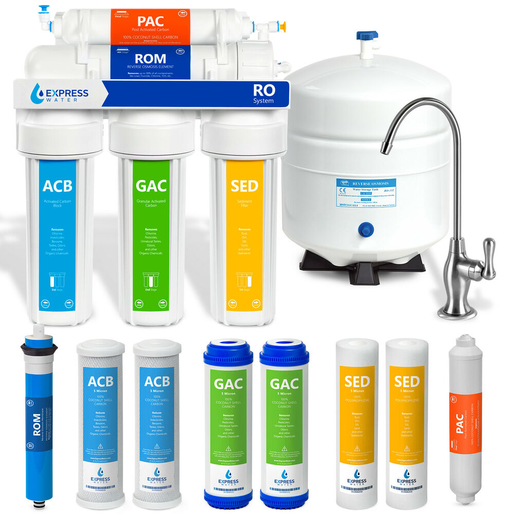 5 stage undersink reverse osmosis water filtration system 50 gpd filter membrane ebay. Black Bedroom Furniture Sets. Home Design Ideas