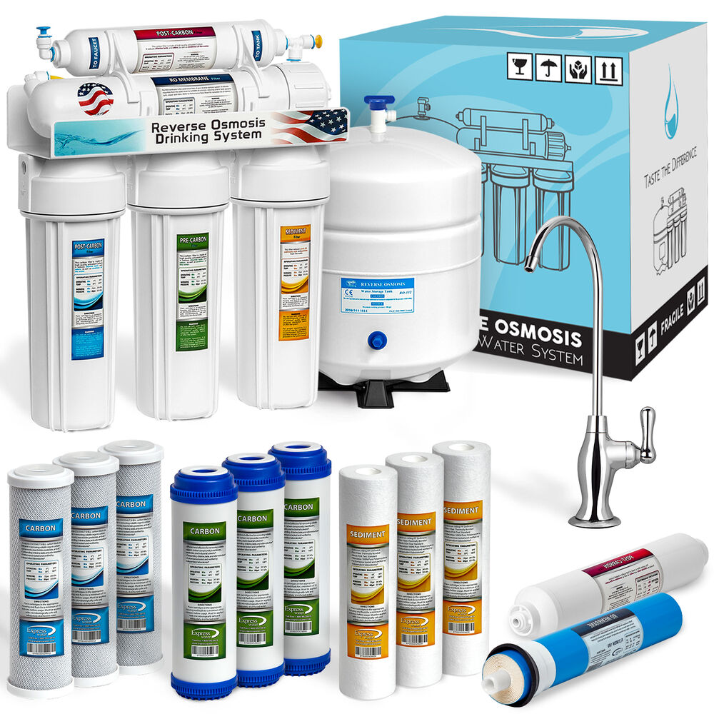 5 Stage Home Drinking Reverse Osmosis System Plus Extra 7