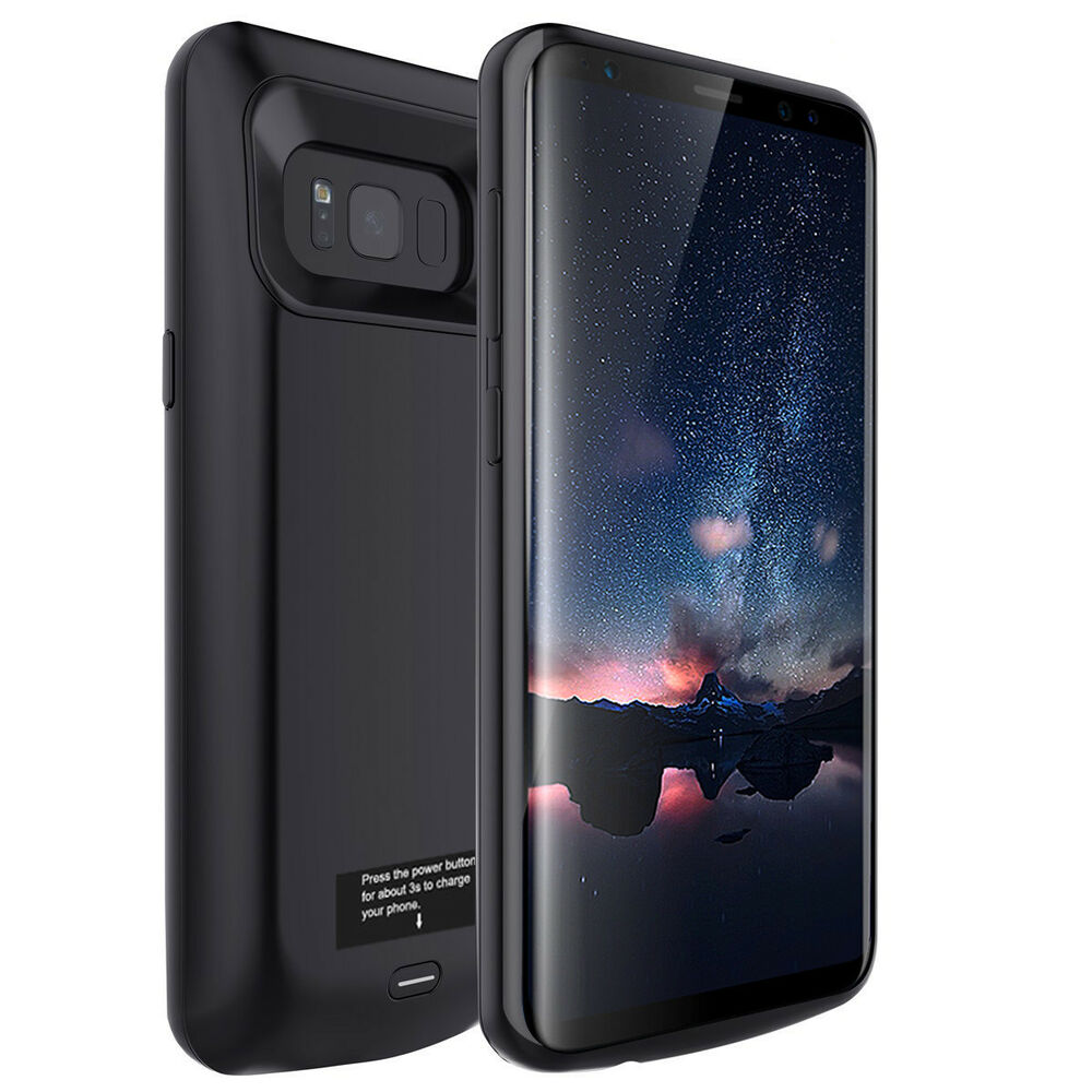 samsung galaxy s5 extended battery backup power pack external charger case cover ebay. Black Bedroom Furniture Sets. Home Design Ideas