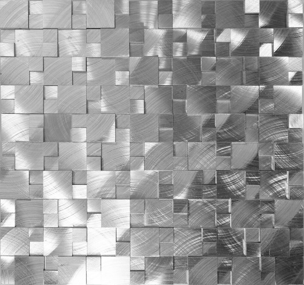 Sample Stainless Steel Metal Pattern Mosaic Tile Kitchen: SAMPLE- 3D Metal Stainless Steel Patern Mosaic Tile Wall
