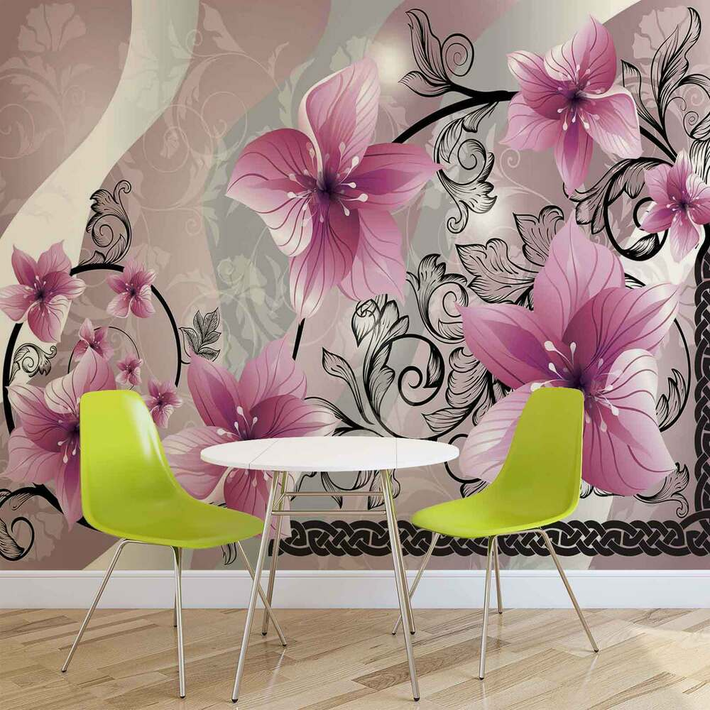 Wall mural photo wallpaper picture 1231pp flowers flower - Flower wallpaper mural ...