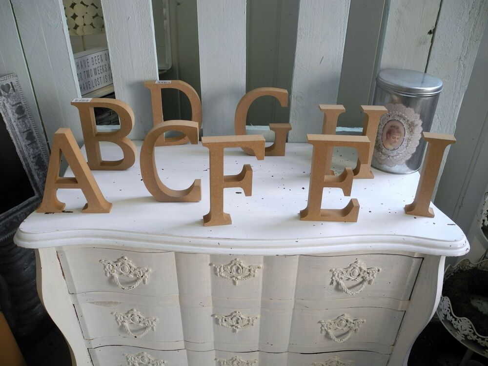 diy xl mdf buchstaben zahlen love life home schrift deko buchstabe shabby holz ebay. Black Bedroom Furniture Sets. Home Design Ideas