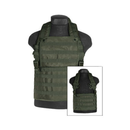 img-ARMY TACTICAL AIRSOFT MOLLE CHEST RIG CARRY VEST MILITARY COMBAT AIRSOFT OLIVE