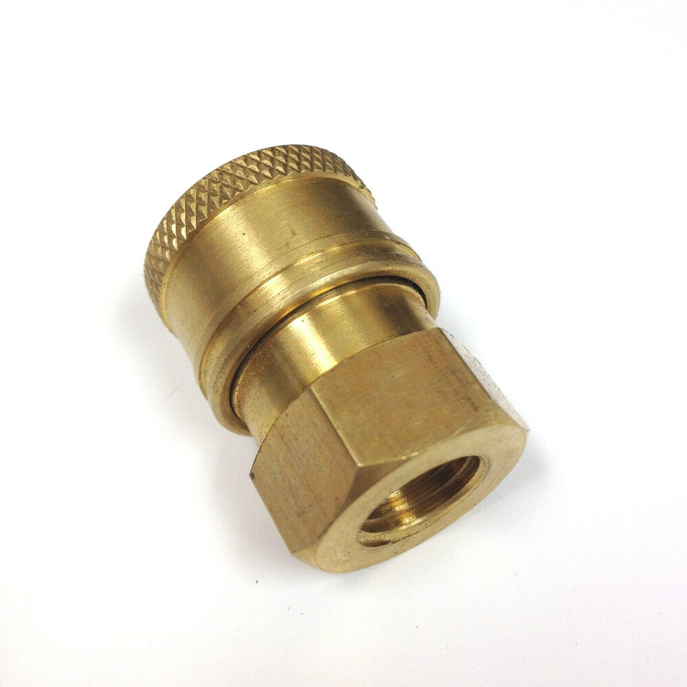 Pressure washer brass quick connect couplers quot fnpt ebay