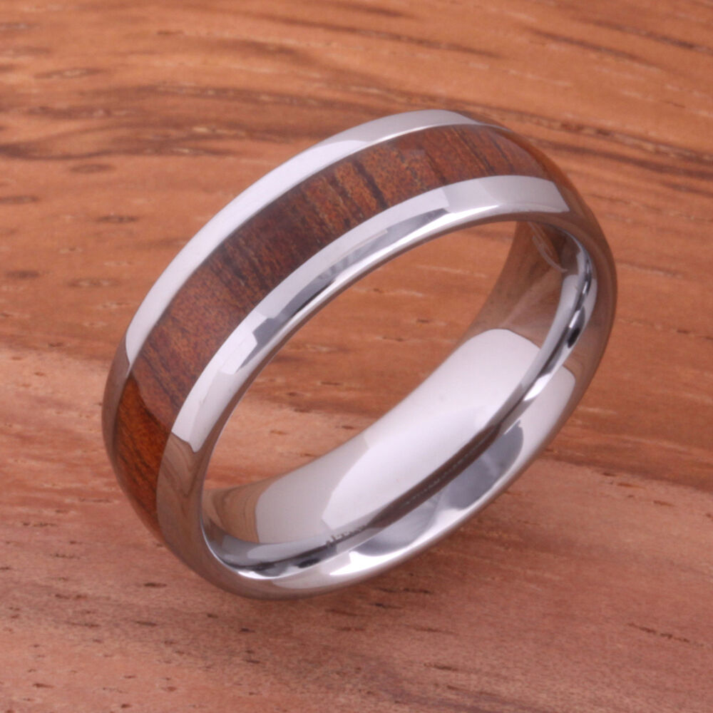 Natural Hawaiian Koa Wood(big Island Koa)tungsten Wedding. Rectangular Cut Engagement Rings. $25 Engagement Rings. Superhero Rings. Star Wars Engagement Rings