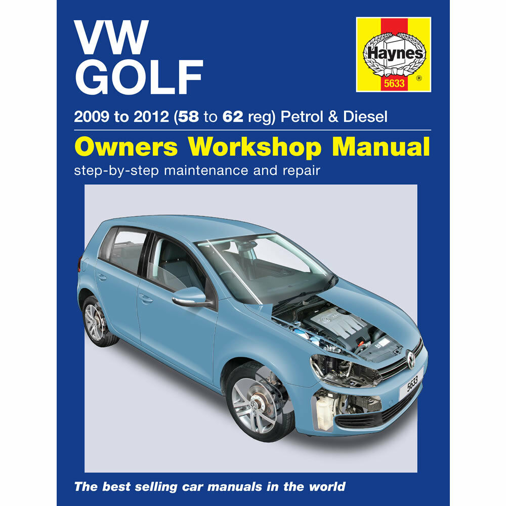 vw golf mk6 1 4 petrol 1 6 2 0 diesel 2009 12 58 to 62 reg haynes workshop man ebay. Black Bedroom Furniture Sets. Home Design Ideas