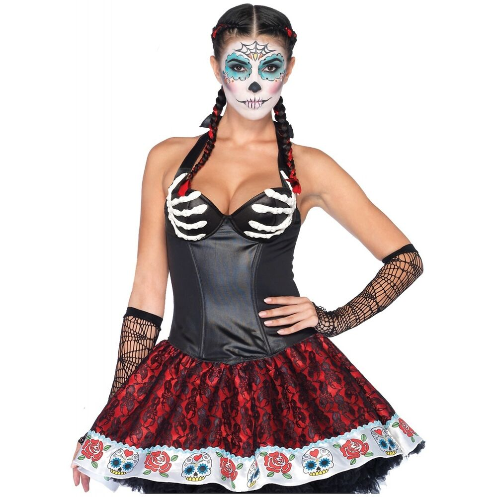 Bony Skeleton Hands Corset Top Dia de Muertos Day of the ...