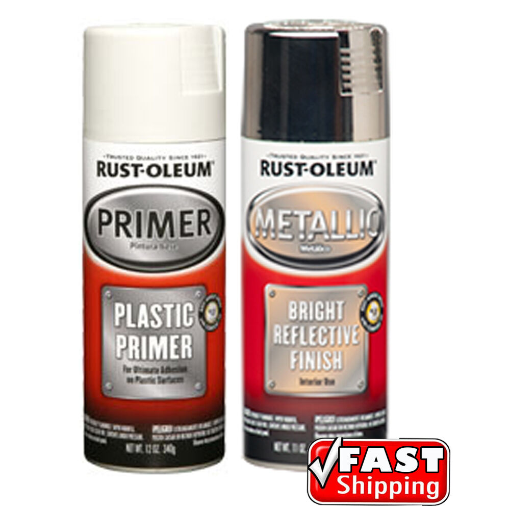 Plastic Primer & Metallic Chrome Spray Paint Pack