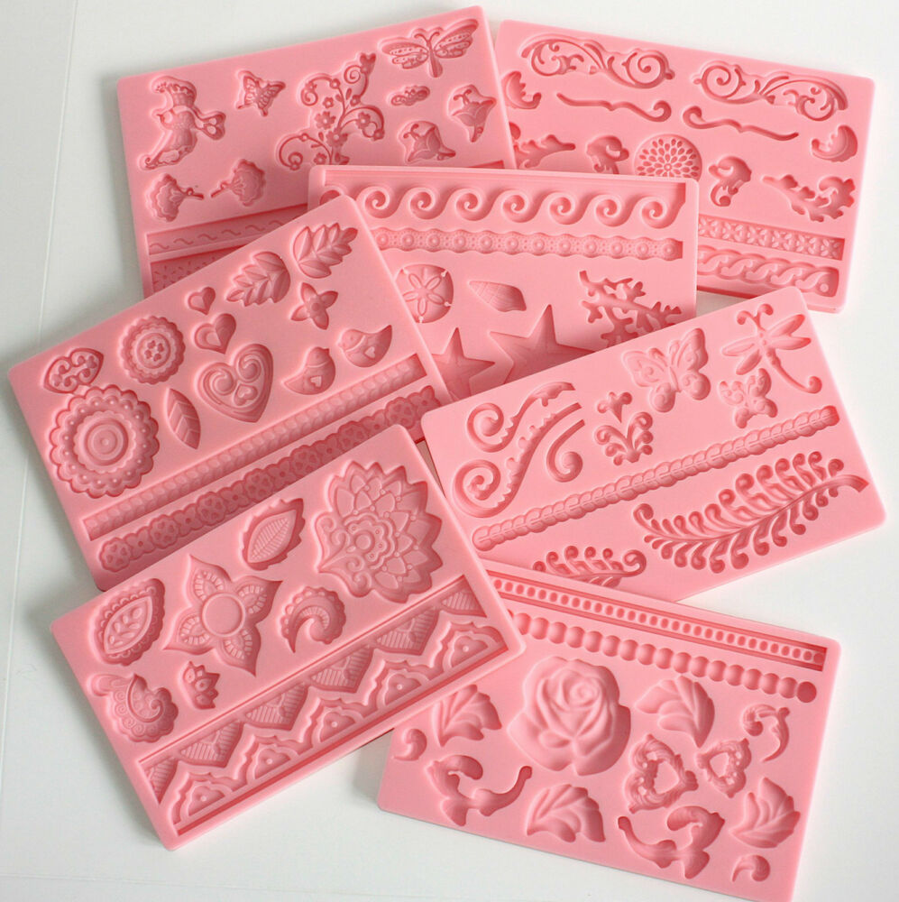 wedding cake icing moulds moulds 7 designs of silicone moulds to choose from 22874