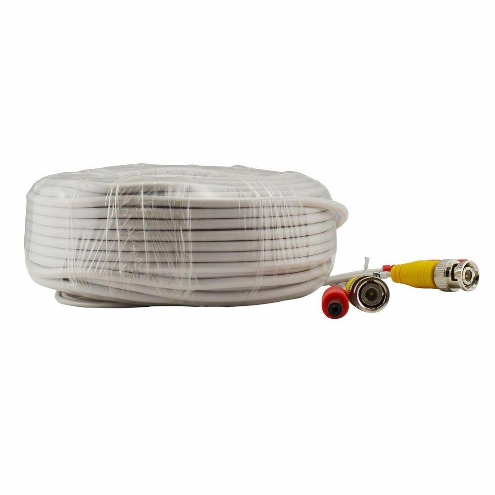 100ft 30m Bnc Amp Power Plug N Play Cctv Video Power Cable