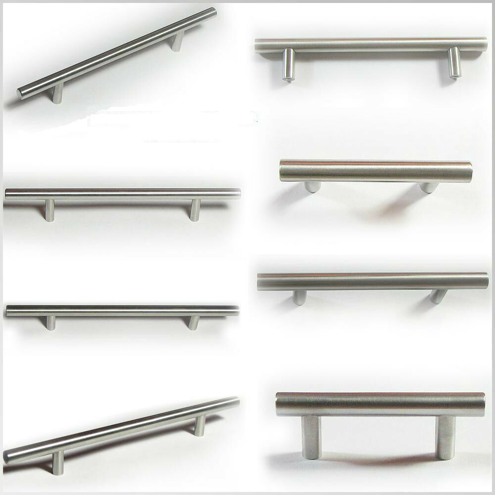 kitchen cabinet bar pull handles bar pull kitchen cabinet handle brushed nickel free 7747