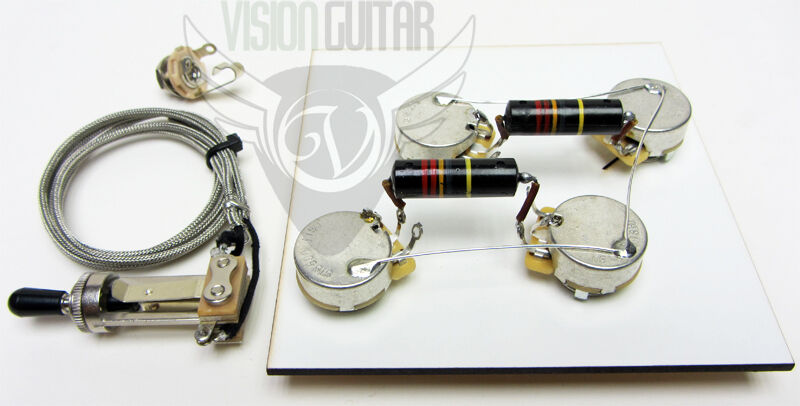1956 60 pre wired les paul wiring harness kit long shaft les paul wiring harness ohio les paul wiring harness 50's coil split