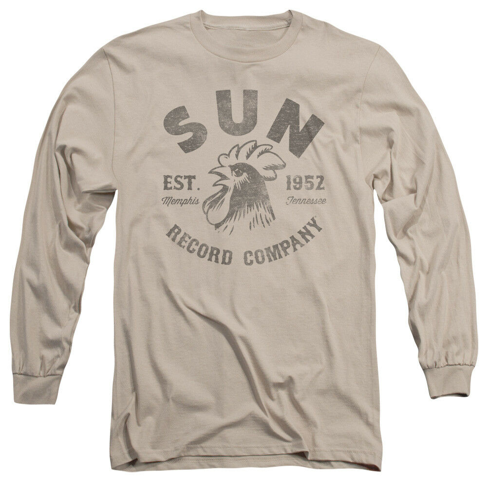 Sun records company record label vintage logo adult tan for Vintage t shirt company