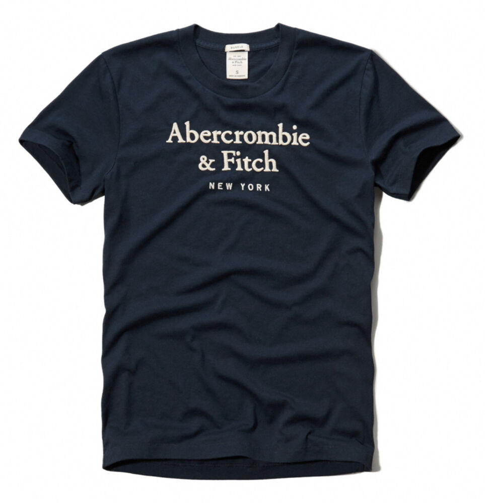 Abercrombie fitch men wanika falls moose crew neck tee t for Abercrombie and fitch tee shirts