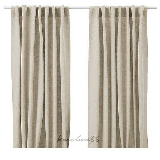 ikea aina pair of curtains linen window drapes 2 panels 98