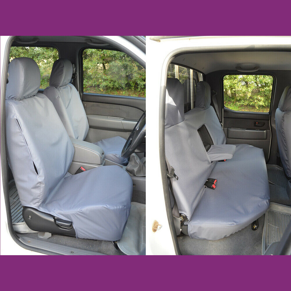 ford ranger double cab 2006 2011 grey tailored front. Black Bedroom Furniture Sets. Home Design Ideas