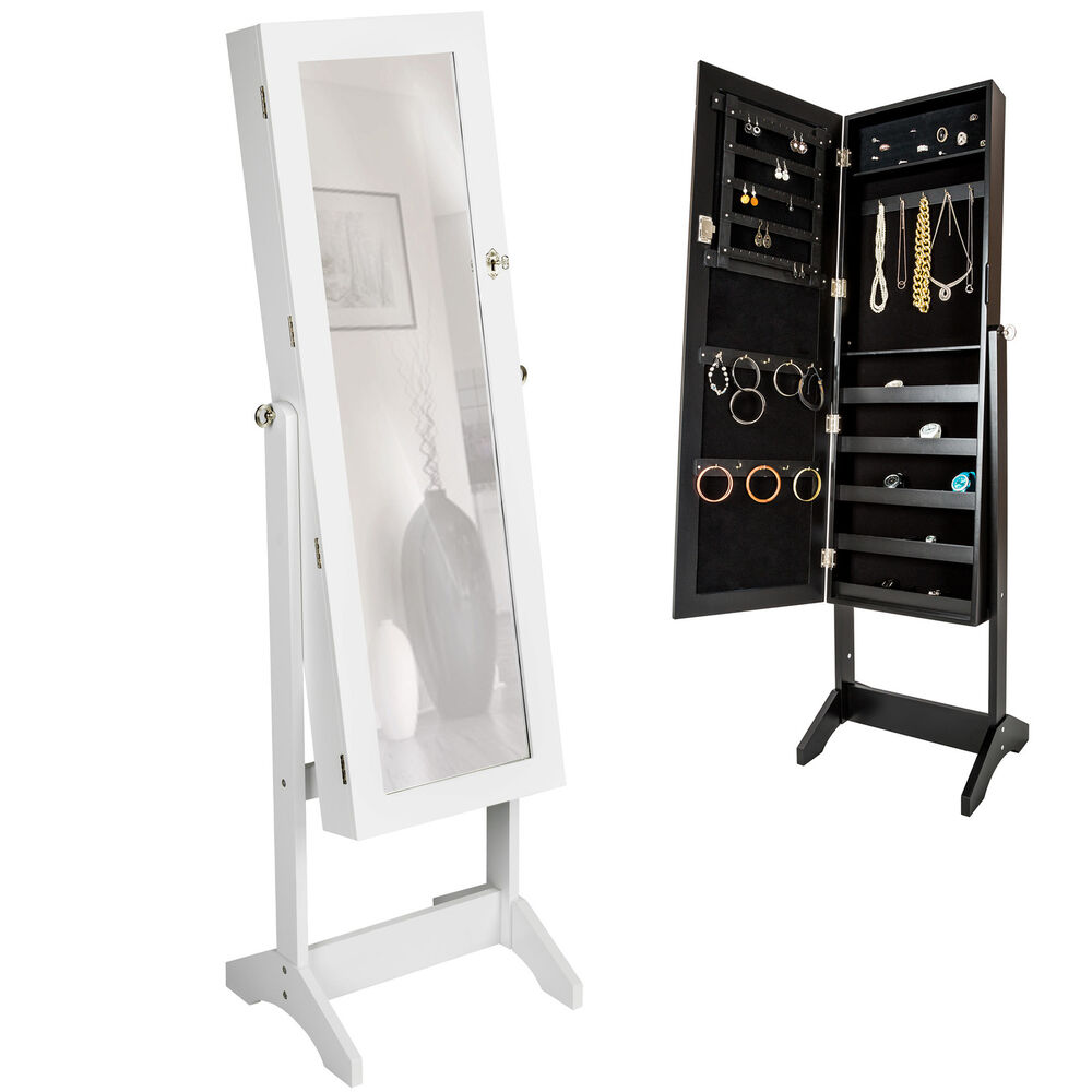 Large Floor Standing Jewelry Cabinet Storage Box Organiser