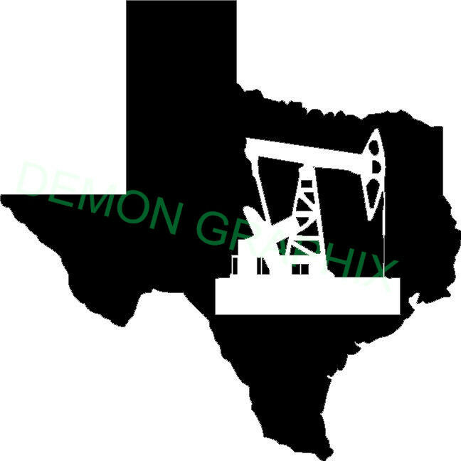 Texas Sil With Pumpjack Vinyl Decal Sticker Truck Car