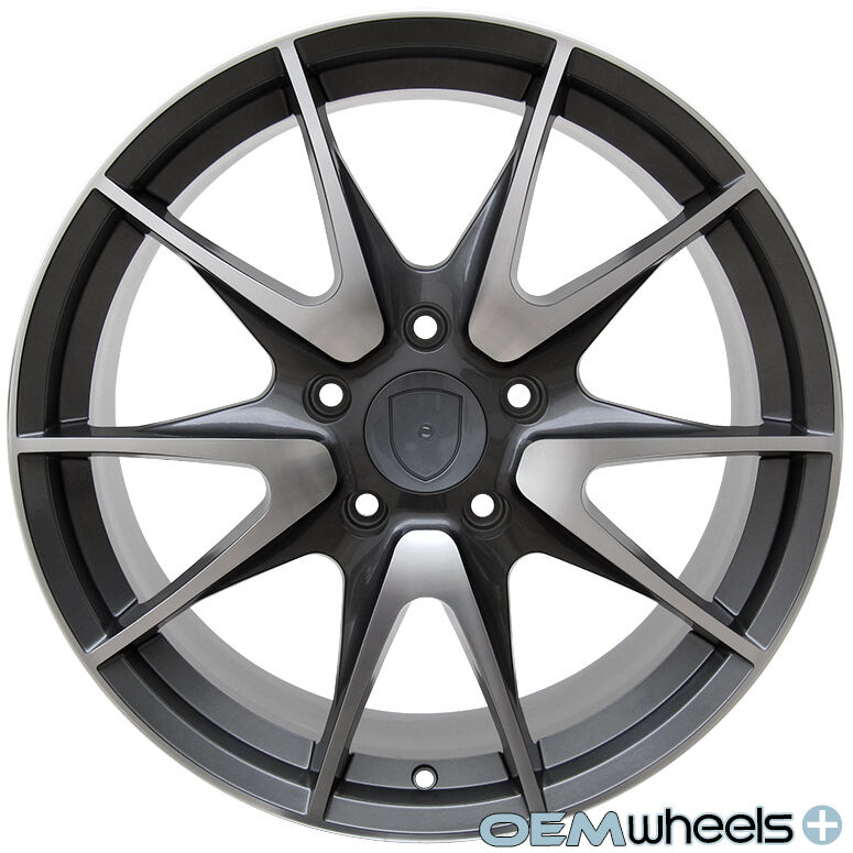 19 gunmetal gt2 style wheels fits porsche 911 carrera boxster cayman s. Black Bedroom Furniture Sets. Home Design Ideas