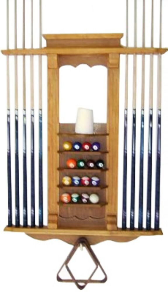 Cue Rack Only 10 Pool Billiard Stick Amp Ball Wall Rack