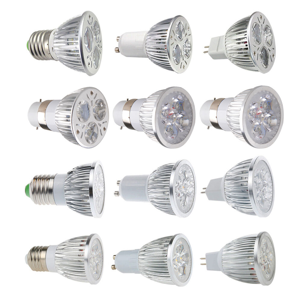 15w 12w 9w gu10 mr16 e27 b22 led bulb spotlight epistar led cool warm white lamp ebay. Black Bedroom Furniture Sets. Home Design Ideas