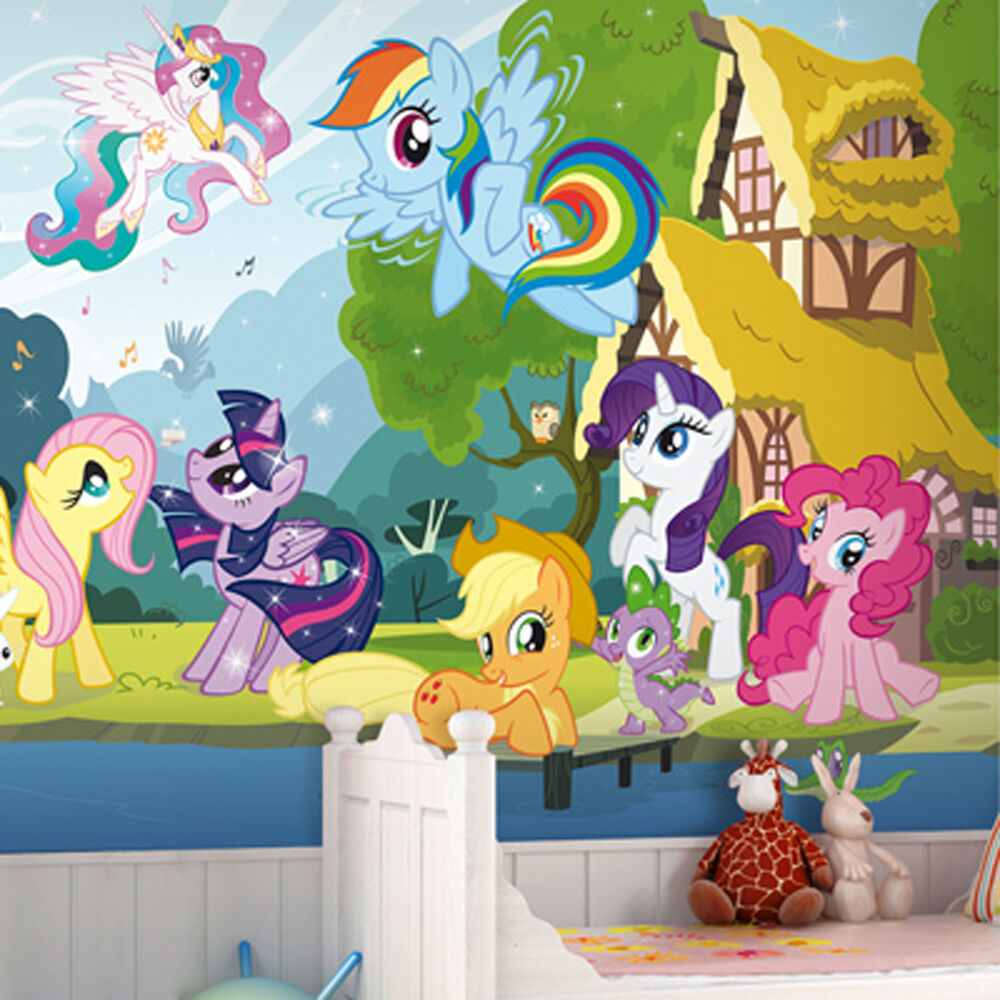 Large wall mural photo my little pony wallpaper interior for Art mural wallpaper