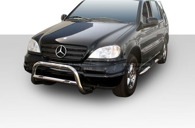 98 05 mercedes ml w163 stainless bull bar bumper guard by for Mercedes benz guard for sale