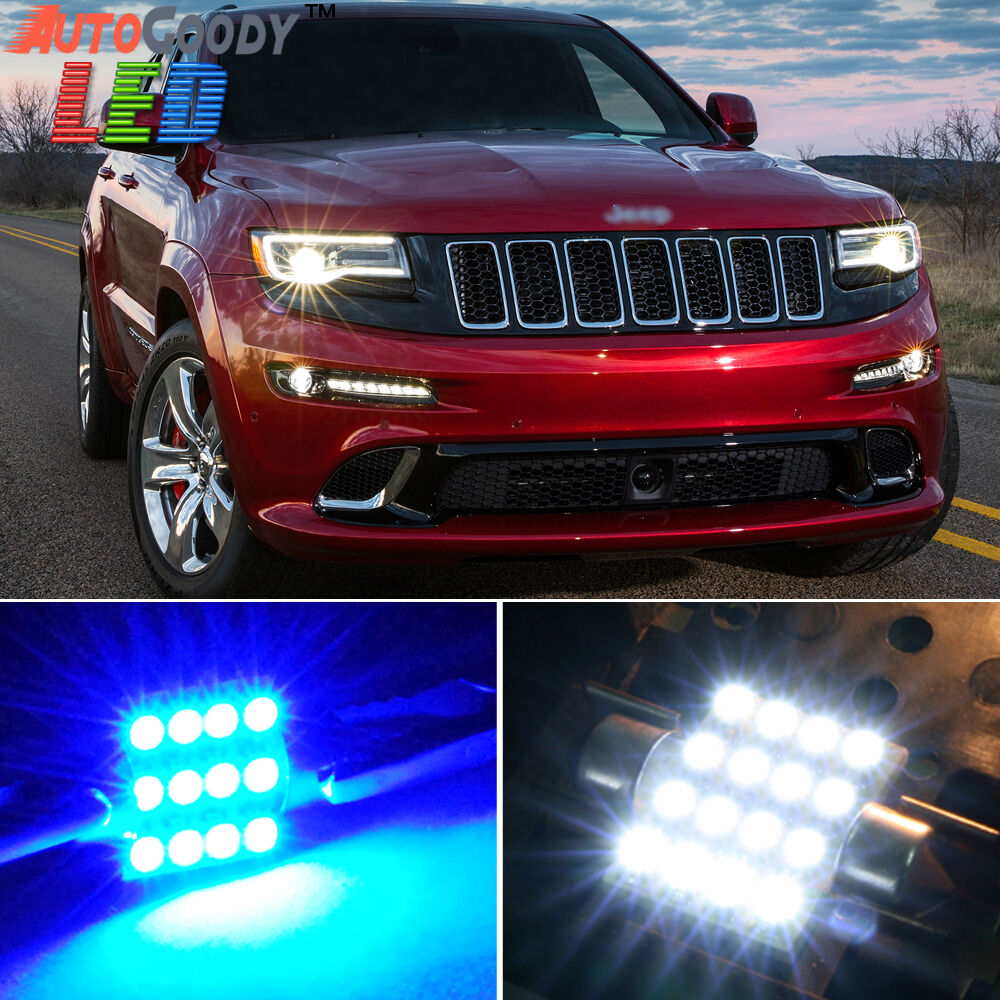 Jeep Grand Cherokee White 2017 >> 15 x Premium Blue LED Lights Interior Package Jeep Grand Cherokee 11-17 + Tool | eBay