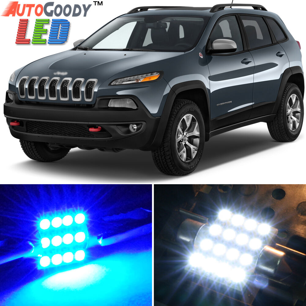 14 X Premium Blue Led Lights Interior Package Upgrade For Jeep Cherokee Ebay