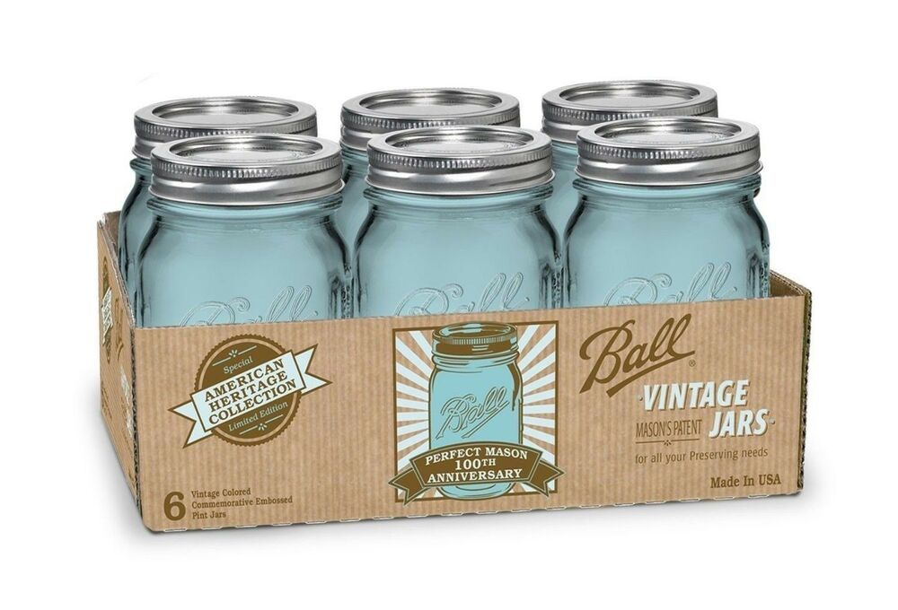 16 oz mason jars 6 pack 16 oz pint jars w lids canning heritage 10150