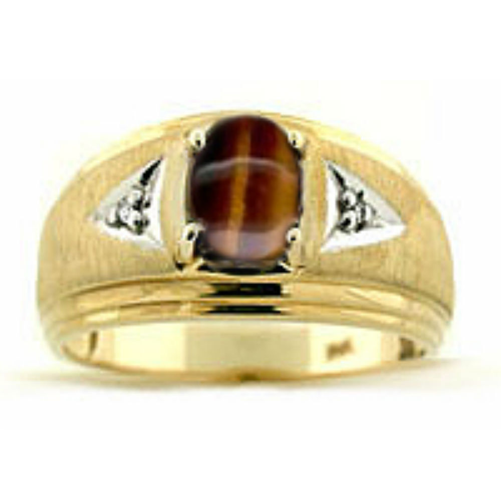 Mens Gold Tiger Ring