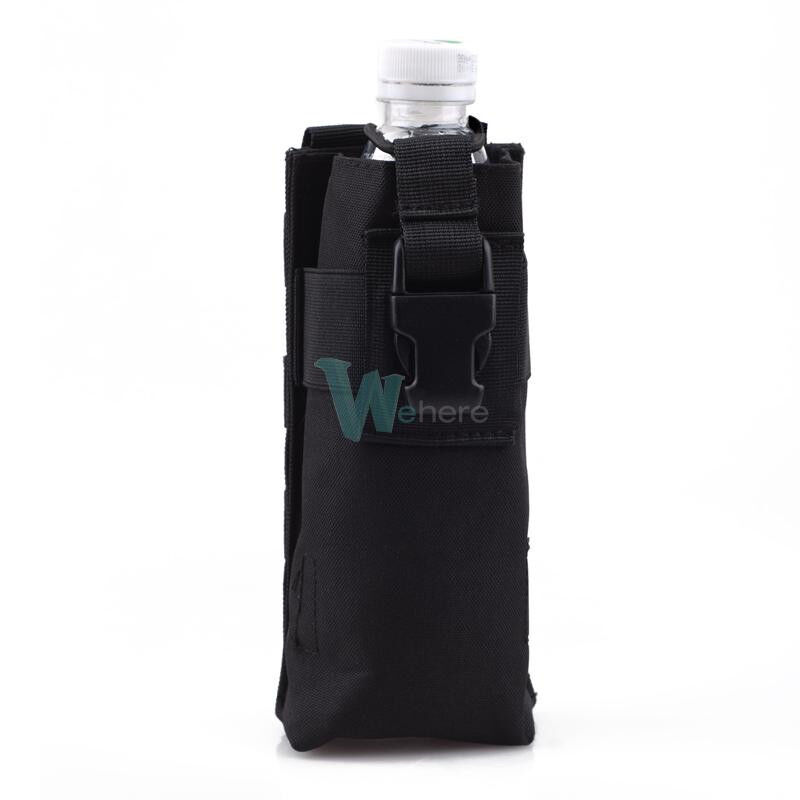 molle tactical travel open top water bottle pouch carry bag black ebay. Black Bedroom Furniture Sets. Home Design Ideas