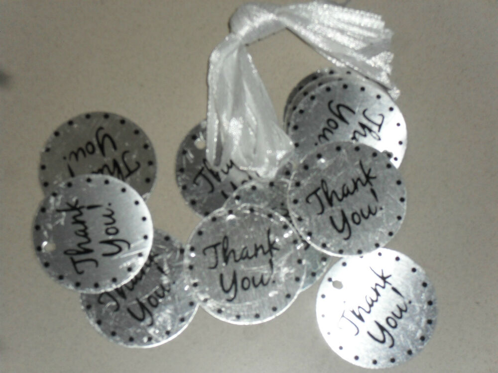 ... Metal Thank You Tags Wedding Christening Bomboniere Favor eBay