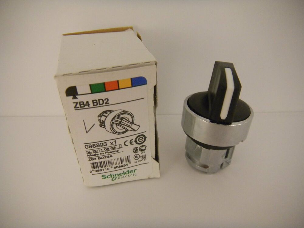 schneider telemecanique selector switch zb4 bd2 new in box ebay