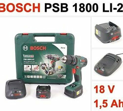 bosch 18v lithium ion cordless combi drill 2 x batteries. Black Bedroom Furniture Sets. Home Design Ideas