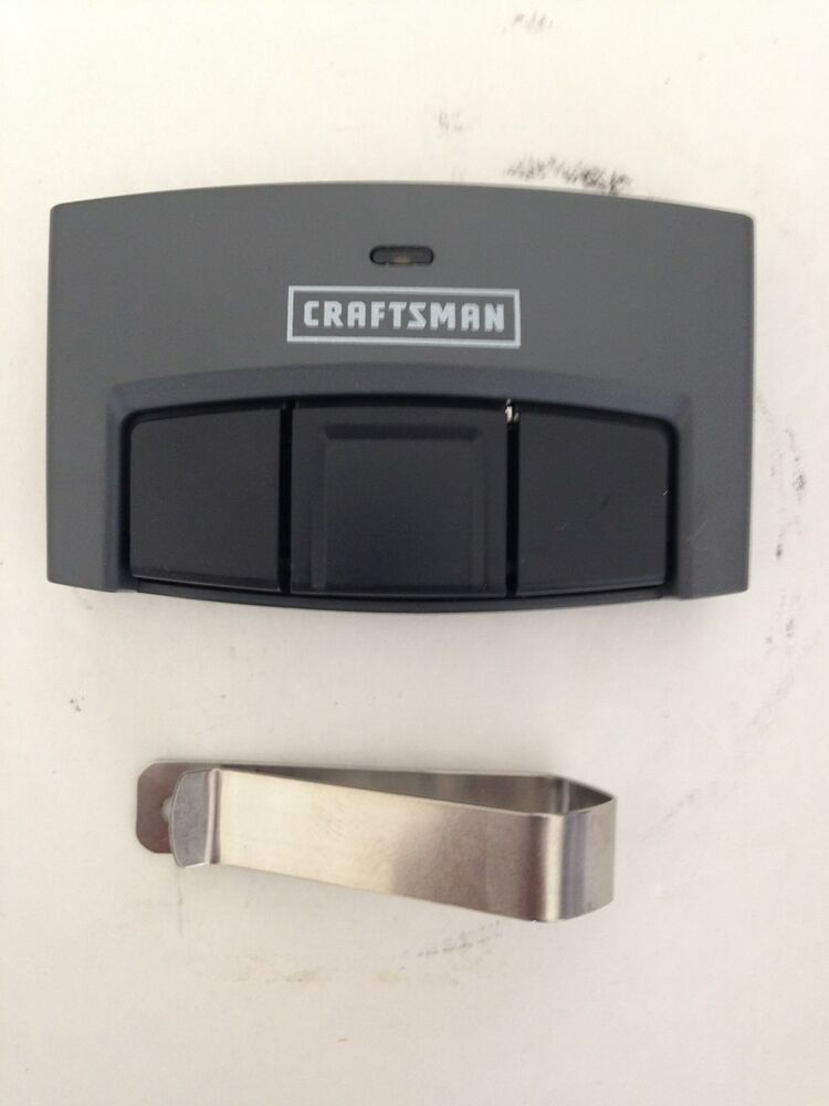 Craftsman Garage Opener 3 Button Remote Control For Yellow