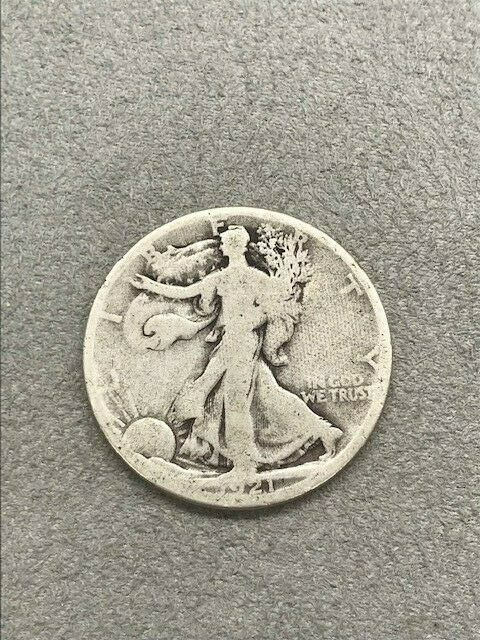 1921 D Silver Walking Liberty Silver Half Dollar Ebay