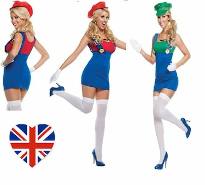 female luigi costume halloween adult womens