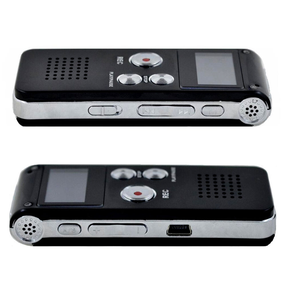rechargeable 8gb 650hr digital audio voice recorder. Black Bedroom Furniture Sets. Home Design Ideas